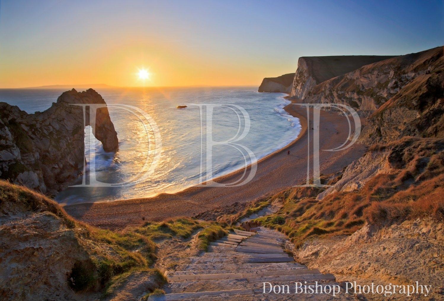 Durdle Door sunset & Durdle Door Sunset 1300 - Don Bishop Photography pezcame.com